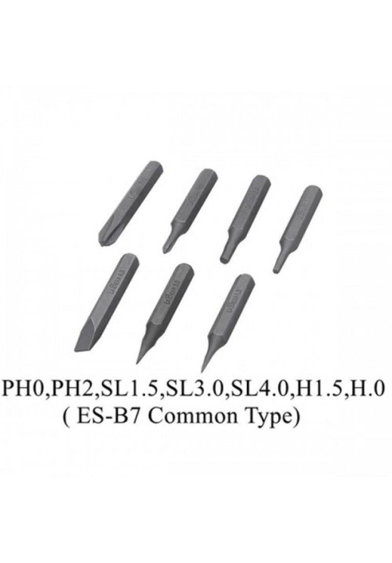 4mm 1/8 Inch MINI ES-B7 Hex Shank S2 Alloy Steel Screwdriver Bit Set Phillips Slotted Torx Hex for ES120 Electric Screwdriver
