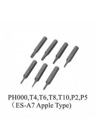 4mm MINI ES-A7 Hex Shank S2 Alloy Steel Screwdriver Bit Set for ES120 Electric Screwdriver