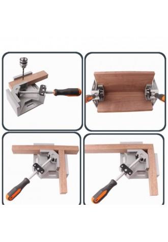 Single handle 90 degree angle aluminum alloy rectangular clamp woodworking tool