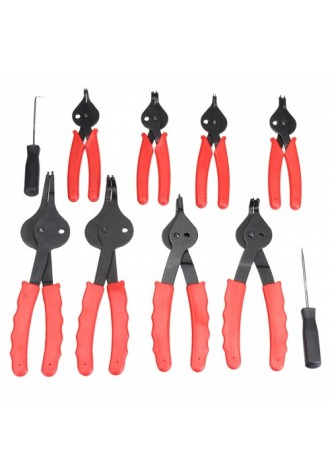 11 Pices of snap ring pliers set mechanical pro universal internal and external snap ring pliers